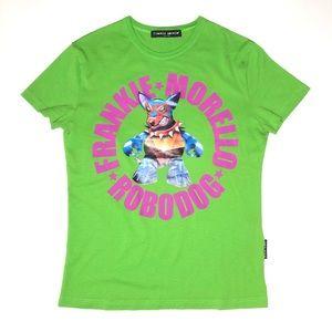 Frankie Morello Slim Fit Dog Print T-Shirt